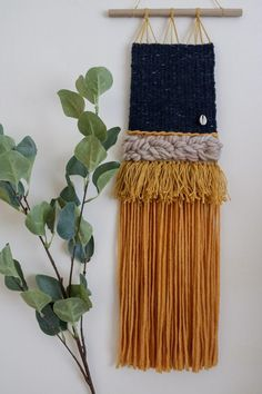 Want to add a little bohemian touch to your space? Something Just Like This, Yellow Cream, Woven Wall Hanging, Tapestry Weaving, Bank Holiday, Sheep Wool, Wall Hangings, Bohemian, Touch