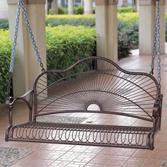 Features:  -Made from premium wrought iron.  -Double powder coated.  -Comes with a 4 foot hanging chain.  -Distressed antique bronze finish.  -Weight capacity: 350 lbs.  -Easy assembly.  Style: -Tradi                                                                                                                                                      More