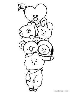 Cute Doodle Art, Doodle Art Designs, Doodle Art Drawing, Outline Art, Outline Drawings, Kawaii Doodles, Cute Doodles, Kpop Drawings, Art Drawings Sketches