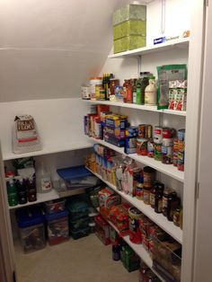 Under Stairs Coat Closet Turned Pantry