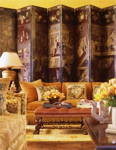 Sumptuous Traditional Living & Family Room by Suzanne Tucker  on HomePortfolio