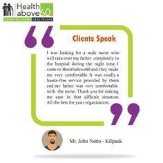 Hear success stories directly from our customers.#Healthabove60 #Testimonial #Feedback