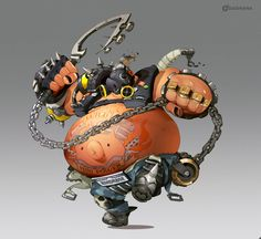 """Dashi en Twitter: """"After long last, I finished this one! The hog of my heart, the swine of my soul, #Roadhog! ❤️ #Overwatch @PlayOverwatch https://t.co/qayDqYtyLb"""""""