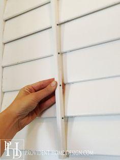 building plantation shutters that have a tilt rod copy - Shutters Home Depot