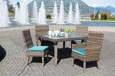 Nottingham Outdoor Dining Set. To view more pieces visit our website www.rattanplus.ca