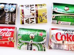 Small Pocket Wallet Riveted Heineken Beer can by TinkanDesigns, $14.00