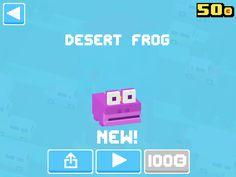 Just unlocked Desert Frog! #crossyroad