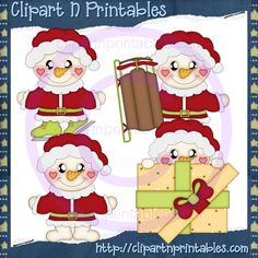 Frosty Santas 2