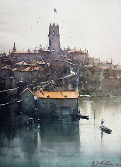 Amazing Architectural Water Colors To Showcase Structural Beauty - Bored Art