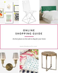 The BEST places to shop online for your home! (Categorized and broken down by price:)