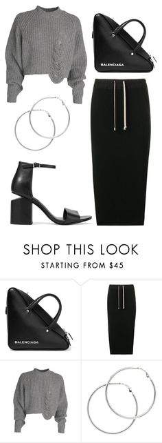 """""""Untitled #161"""" by minia001 ❤ liked on Polyvore featuring Balenciaga, DRKSHDW, Melissa Odabash and Alexander Wang"""