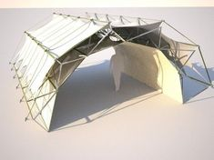 Lightweight, easy to deploy structures have so many uses, from emergency housing to recreation. Daniel Piker is an architecture student in London showing remarkable work on his website