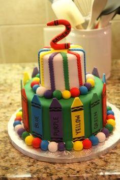 Crayola Birthday Cakes | cakes and cake pops