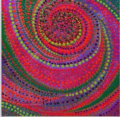 By Milly Martionou, acrylic on canvas, x 70 cm Mosaic Glass, Glass Art, Stained Glass, Mandala Dots, Aboriginal Art, Texture, Dot Painting, Learn To Paint, Sacred Geometry