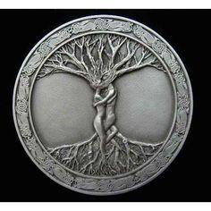 Nos enseñaron a escuchar a los demás de manera incorrecta, a través de los oídos,.... y no a través de sus almas.  Guadalupe Maya- ..... Celtic Tree Of Life Lovers Belt Buckle.
