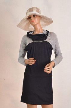 Robe tunique 2 en 1  cop copine  noire et gris  taille 38 Microline robe
