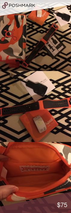 Orange theory heart monitor wristband Like new! Only used for 2 months! Joined a new gym and have no need for it. Paperwork included. Wristband, monitor charger and accessory bag (brought separately to stay organized) work perfectly. Clean smoke free home. Ship quickly. orange theory Other