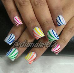 Rainbow gay / lesbian pride nail art   A Collection of My ...