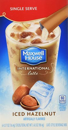 Maxwell House International Coffee Hazelnut Iced Latte Singles ** Read more reviews of the product by visiting the link on the image.