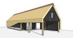 Carport, wijnkelder, guesthouse en atelier in split-level - Dingemans Architectuur News Studio, Building A New Home, Outdoor Gear, Tent, Shed, Garage, New Homes, Barn, Design Inspiration