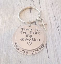 Excited to share the latest addition to my #etsy shop: Baptism Gift, Godparent Gift, Personalized Baptism Gift, Personalized Godparent Gift, Godmother Gift, Godfather Gift, Baptism Keychain #keychain https://etsy.me/2J34CnE