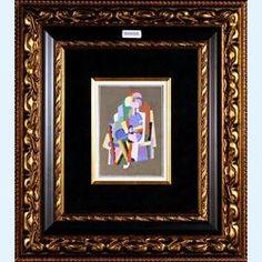 Lot 224-Georges Valmier Original hand executed gouache pochoir over lithography Jeune Femme Lisant 1929