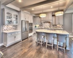 Jude Dream Home, Kansas City, MO, Summit Custom Homes featuring the Artesso Articulating Kitchen Faucet by Brizo. Summit Homes, Home Photo, Home Builders, Kansas City, Custom Homes, Outdoor Spaces, Faucet, Kitchen Ideas, Photo Galleries