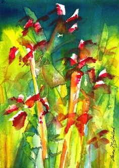 Original Watercolour  Life Force by donnamulholland on Etsy, $50.00