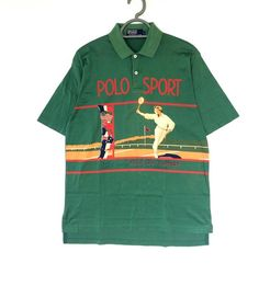 721461057c Super Rare!! Vintage Polo Sport tennis Polo cup contest shirt Size large   lolife polo stadium polo kswiss pwing snow beach