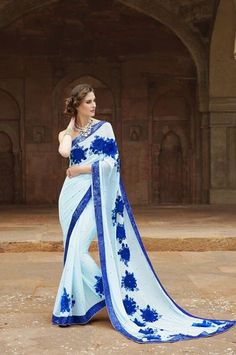Designer Embroidered Wedding Wear Saree