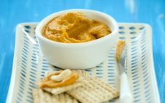 Carrot Cashew Spread // This is made with no dairy, so it's vegan! It's great on crackers or you can spread it over toast points.