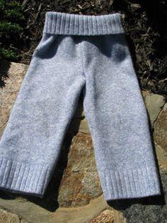 RePurposed Wool Longies / Pants  Soft Blue by EverGreenBazaar, $17.00