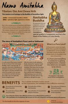 Learning about Mantras: Om Ami Dewa Hrih. This is the sacred mantra of BUDDHA…