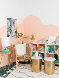 One Color-Block Book Shelf Styled Two Ways. / via Oh Joy! Start building amazing sheds the easier way with a collection of shed plans! Big Girl Rooms, My New Room, Room Colors, Room Decor Bedroom, Apartment Living, Room Inspiration, Decoration, Wall Decor, Interior Design