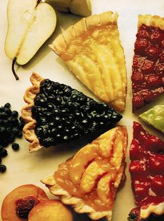 fruit pies | Glazed Summer Fruit Pies | The Culinary Cellar