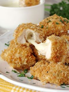 Baked Chicken Nuggets With Mozzarella on MyRecipeMagic.com
