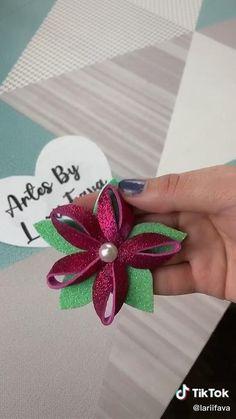 Diy Crafts For Home Decor, Diy Crafts Hacks, Diy Crafts For Gifts, Diy Arts And Crafts, Creative Crafts, Clay Crafts, Crafts For Kids, Diy Lace Ribbon Flowers, Paper Flowers Craft