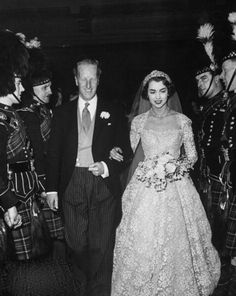 Earl of Dalkeith marries Jane McNeill. Earl of Dalkeith marries Jane McNeill. Chic Vintage Brides, Vintage Wedding Photos, Vintage Bridal, Vintage Weddings, Royal Brides, Royal Weddings, Wedding Bride, Wedding Gowns, Old Fashioned Wedding