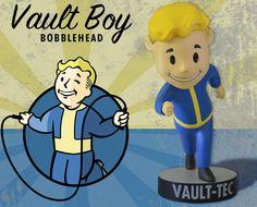 The Bethesda Store - Vault Boy Endurance Bobblehead - - Figures - Collectibles Fallout, Vault Tec, Head Shop, Elder Scrolls, Bobble Head, Skyrim, Plushies, Action Figures, Art Prints