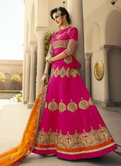 PLease Come once for nice look and great experiance  http://salwarweb.com/megenta-art-silk-embroidered-work-party-wear-lehenga-choli-15008
