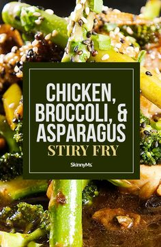 Our Chicken Broccoli and Asparagus Stir Fry is a healthy stir fry recipe that is easy to whip up after a long day. Our Chicken Broccoli and Asparagus Stir Fry is a healthy stir fry recipe that is easy to whip up after a long day. Asparagus Stir Fry, Chicken Asparagus, Asparagus Recipe, Clean Eating Dinner, Clean Eating Recipes, Clean Eating Snacks, Low Carb Appetizers, Appetizer Recipes, Dinner Recipes
