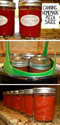 Canning Tips, Home Canning, Canning Recipes, Easy Canning, Easy Homemade Pizza, Homemade Sauce, Canning Pizza Sauce, Canning Food Preservation, Preserving Food