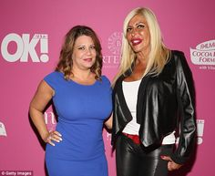 Karen Gravano (left) was banned from attending services for co-Mob Wives star Angela 'Big Ang' Raiola. The pair is pictured together at a May, 2015 event in New York City