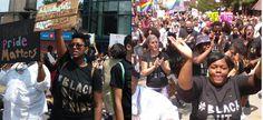 PANDEMONIUM at Chicago Gay Pride Parade!! 'Black Lives Matter' disruption, 2 people SHOT, car hits people?!!