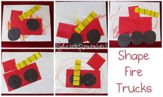 Provide child with all of the shapes and they put together for art project..... OR have as felt pieces and they can put together in class