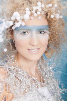 light blue makeup mask.