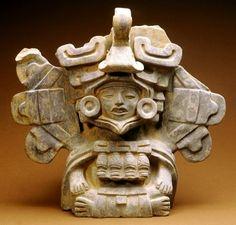 Seated Figure Urn, AD 300-600, Zapotec; Oaxaca