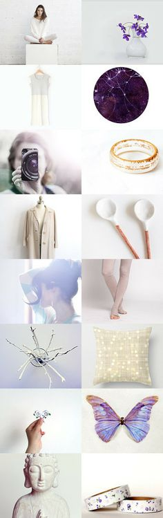 Violets and cream by Elsa A on Etsy #etsytreasury, #february, #etsytrends