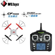 1set WLtoys V686 V686G V686K V686J 2.4GHz 4CH Dron Professional Drones CF MODE RC Quadcopter & Camera & FPV Monitor