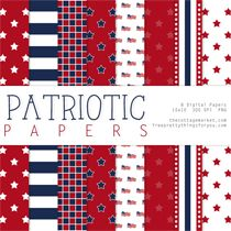 This site has so many great free Digital Scrapbooking Freebies: Fourth of July Patriotic Papers Two